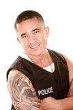 Handsome Hispanic Cop Royalty Free Stock Image