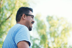 Handsome Hispanic Dad Royalty Free Stock Images