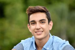 Teenage Male Smiling. A handsome hispanic male teen Royalty Free Stock Images