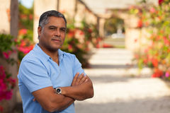 Handsome Hispanic man Stock Images