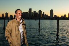 Handsome Hispanic man stock image