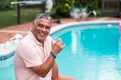 Handsome Hispanic Man Outdoors stock images