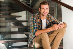 Handsome at home. Stock Photography