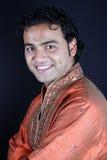 Handsome Indian Groom. A handsome Indian groom in a traditional attire, at wedding Stock Photos