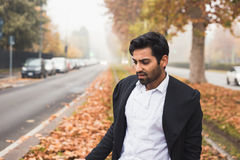 Handsome Indian man posing in an urban context Stock Photography