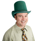 Handsome Irish Man. Handsome man of Irish heritage celebrating St. Patrick's Day.  Isolated on white Royalty Free Stock Image