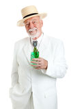 Kentucky Colonel Enjoys Mint Julep Royalty Free Stock Photography