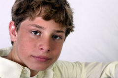 Handsome lad. Closeup shot of high school-aged, teenage boy Royalty Free Stock Image