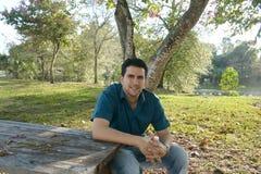 Handsome latin man posing Royalty Free Stock Image