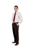 Handsome latin man wearing a red tie Royalty Free Stock Photos