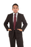 Handsome latin man wearing a red tie Royalty Free Stock Image
