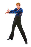 Handsome latino dancer in action  on white Royalty Free Stock Image