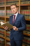 Handsome lawyer in the law library Royalty Free Stock Image