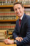 Handsome lawyer in the law library Royalty Free Stock Photo