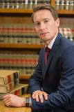 Handsome lawyer in the law library Stock Photos