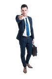 Handsome lawyer pointing finger at the camera Stock Images
