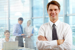 Handsome leader Royalty Free Stock Photos