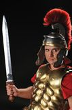 Handsome legionary soldier Stock Photos