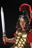 Handsome legionary soldier Stock Photos