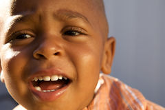A Handsome little African American Boy Stock Images