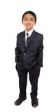Handsome Little Boy in a Business Suit stock photos