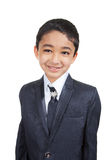 Handsome Little Boy in a Business Suit royalty free stock photography