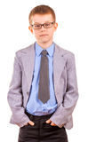Handsome Little Boy in a Business Suit, Isolated Stock Photos