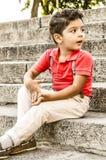 Handsome Little boy fashion portrait Royalty Free Stock Image