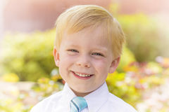 Handsome Little Boy Portrait Stock Photo