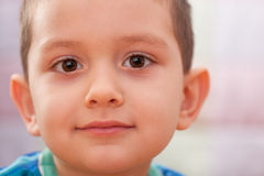 Handsome little boy's face Royalty Free Stock Images