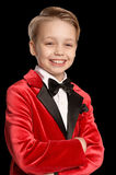 Handsome little boy in a tuxedo Royalty Free Stock Photography