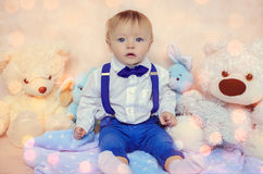 Handsome little gentleman Royalty Free Stock Photography