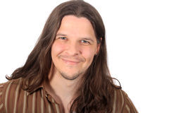 Handsome long haired man Stock Photography