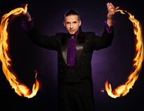Handsome magician Stock Photography