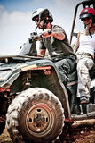 Handsome male atv rider Stock Image