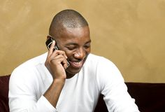 Handsome Male on cell phone Stock Photos