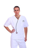 Handsome male doctor Stock Images