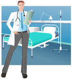 Handsome Male Doctor Royalty Free Stock Images