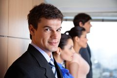 Handsome Male Executive Smiling royalty free stock photo