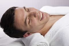 Handsome Male Face in the Spa Royalty Free Stock Images