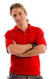 Handsome male with folded arms Royalty Free Stock Photos