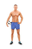 Handsome male football player Royalty Free Stock Images