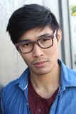 Handsome male with glasses portrait Stock Photos