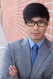 Handsome male with glasses portrait Royalty Free Stock Image
