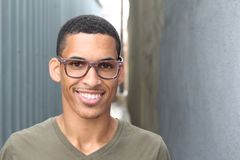 Handsome male with glasses portrait Stock Images