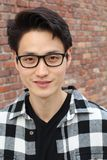 Handsome male with glasses portrait Royalty Free Stock Photography