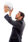 Handsome male holding disco ball Royalty Free Stock Photo