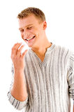 Handsome male laughing Royalty Free Stock Photography
