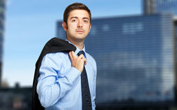 Handsome male manager outdoor Royalty Free Stock Images