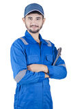 Handsome male mechanic in studio Stock Images
